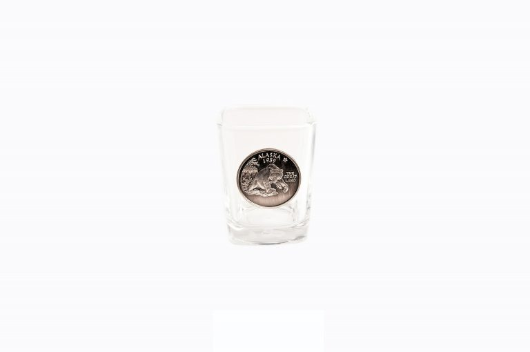 loveditinalaska.com | Pewter Bear Shot Glass