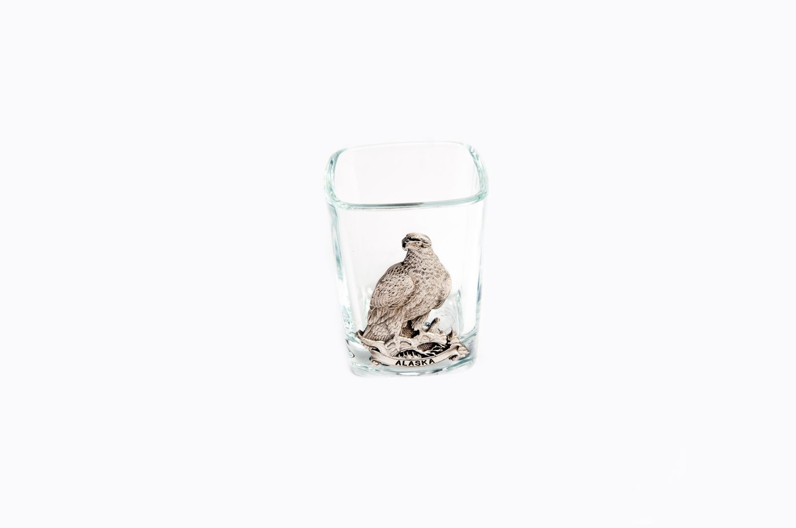 Pewter Eagle Shot Glass