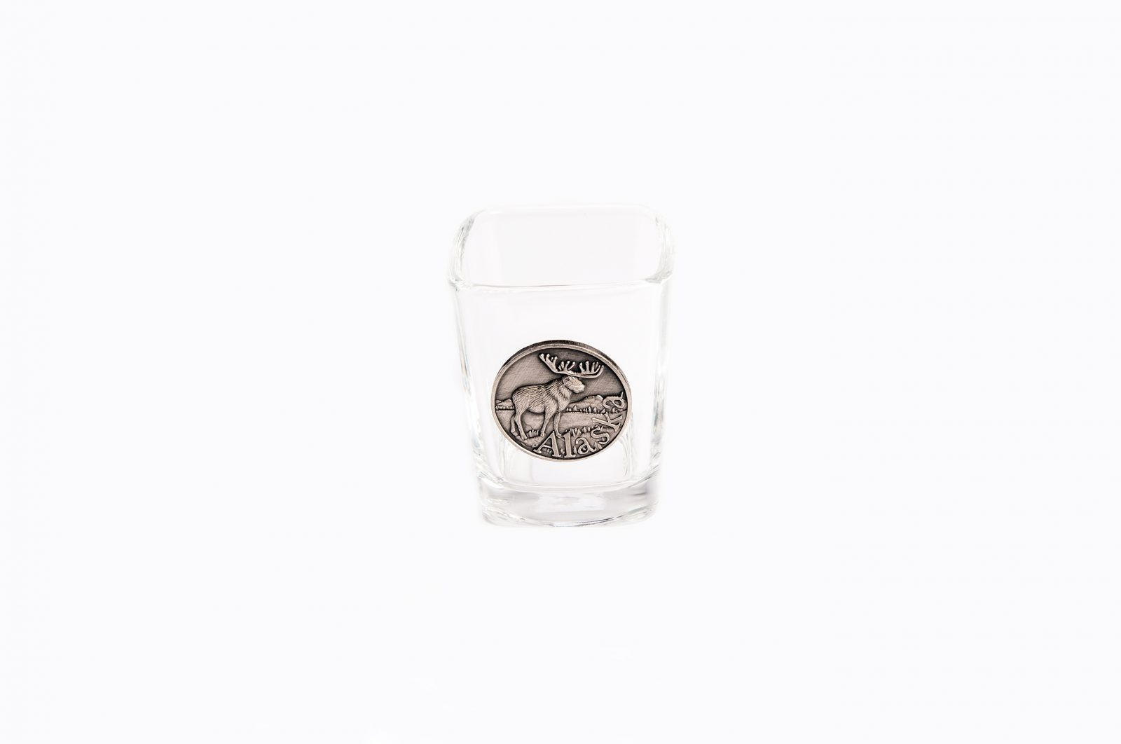 Pewter Moose Shot Glass