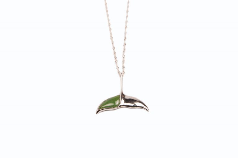 loveditinalaska.com | Jade World Whale's Tail Necklace-Sterling