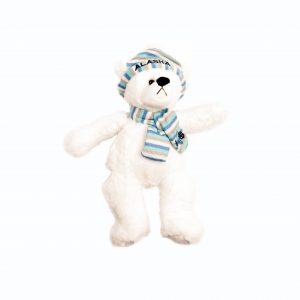 Plush Bear with Hat and Scarf