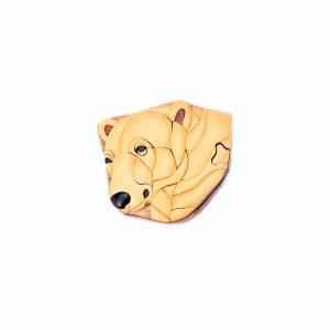 loveditinalaska.com | Wooden Polar Bear Puzzle Box