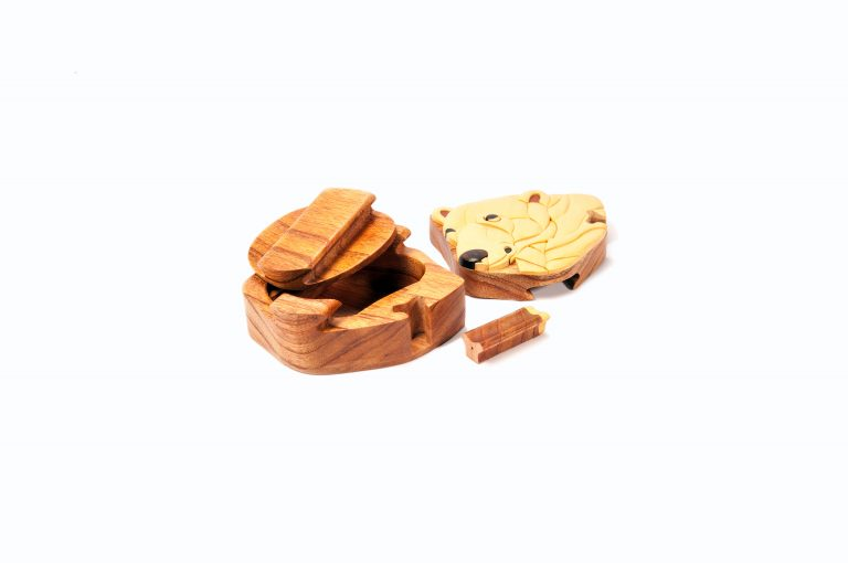 loveditinalaska.com | Wooden Polar Bear Puzzle Box