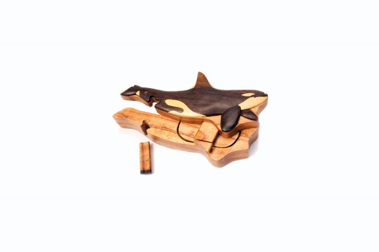loveditinalaska.com | Wooden Whale Puzzle Box