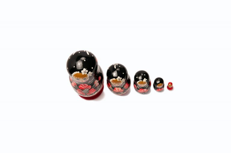 loveditinalaska.com | Small Nesting Doll 5 pc Set