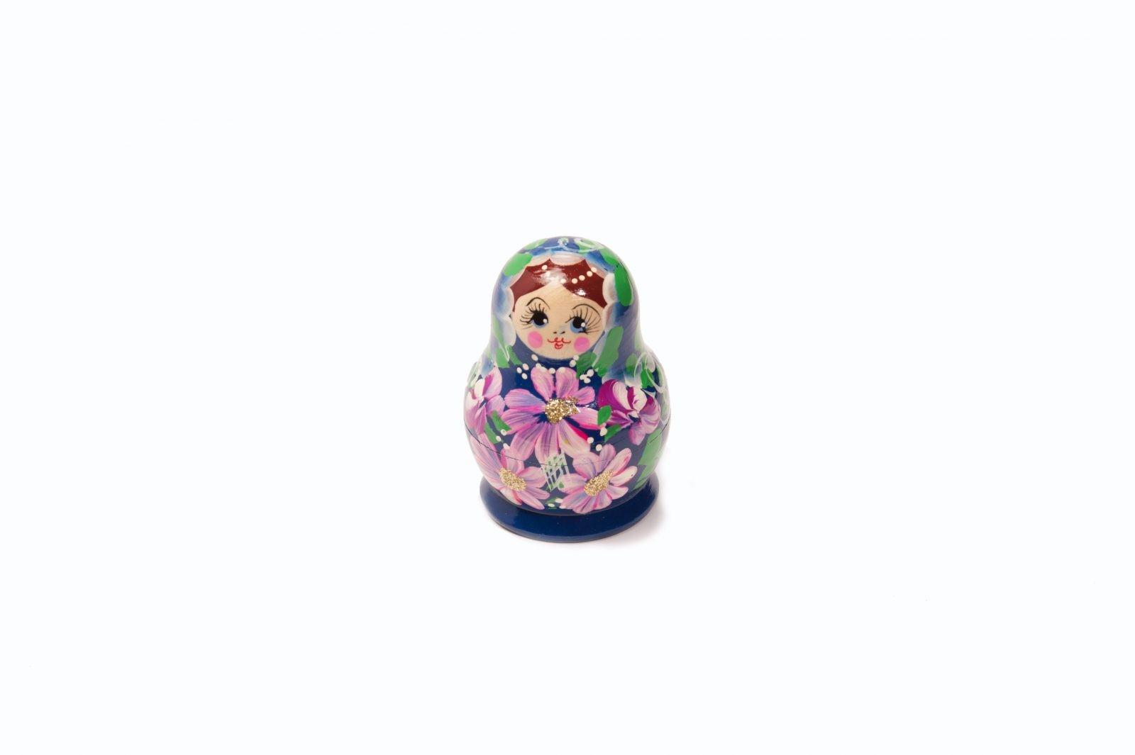 loveditinalaska.com | Small Nesting Doll 5 pc Set-Blue