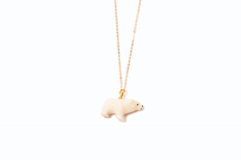 Carved Polar Bear Pendant