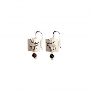 Stainless Petroglyph Moose Earrings