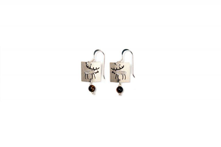 Stainless Petroglyph Moose Earrings