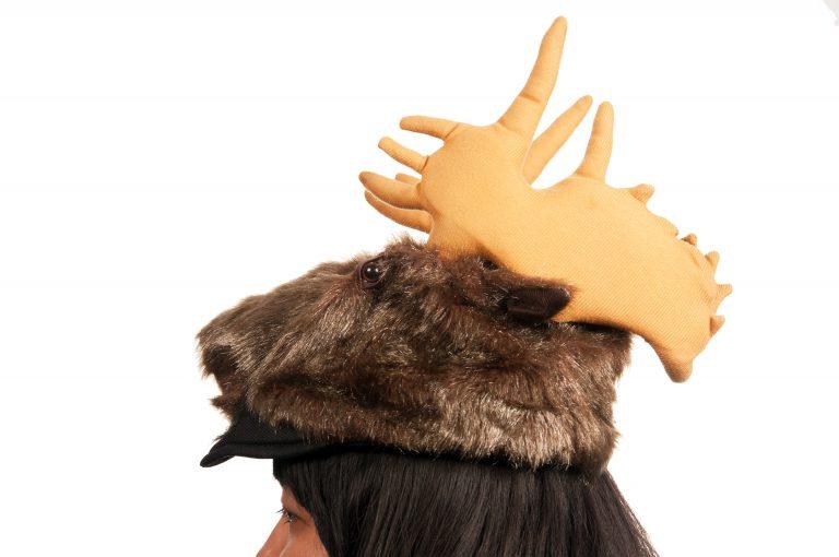 Moose Plush Hat
