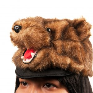 Brown Bear Plush Hat