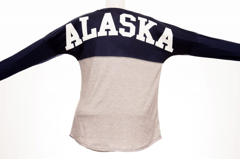 loveditinalaska.com | Alaska Jersey Long-Sleeve T-shirt-Navy
