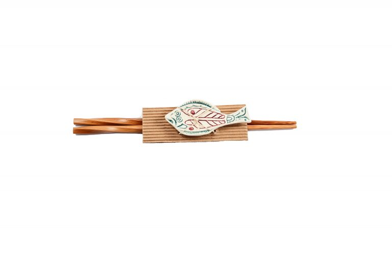 Halibut Totemic Chopsticks with Rest