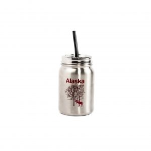 Stainless Mason Style Moose Bottle-30 oz