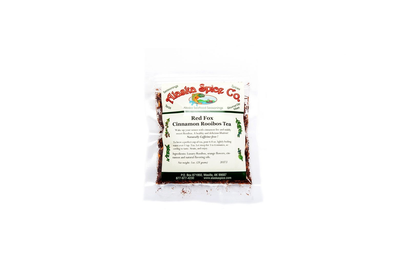 loveditinalaska.com | Alaska Spice Co Red Fox Cinnamon Rooibos Loose Leaf Tea-1 oz