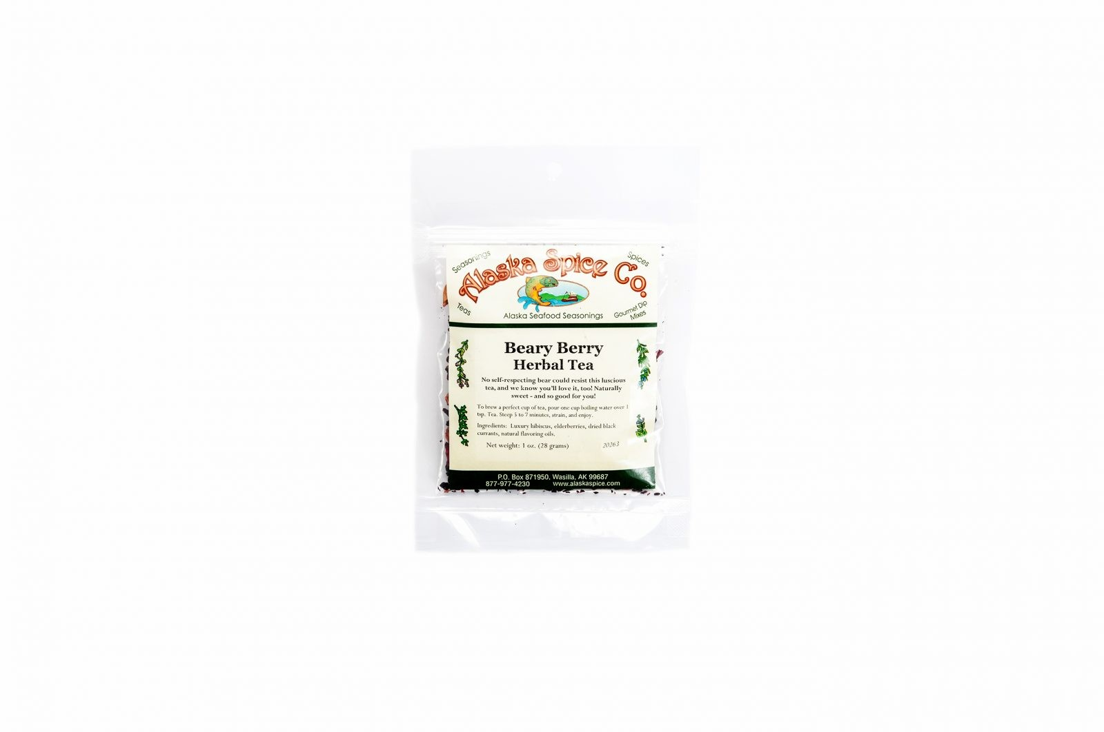 loveditinalaska.com | Alaska Spice Co Beary Berry Herbal Loose Leaf Tea-1 oz