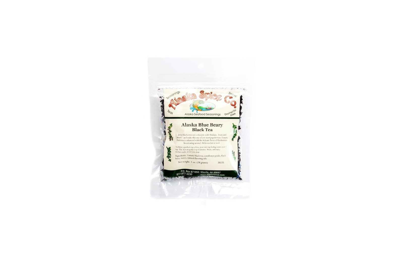loveditinalaska.com | Alaska Spice Co Blue Beary Black Tea-1 oz