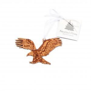 Laser Cut Wood Eagle Ornament