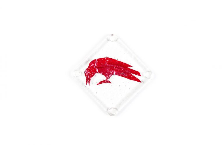 Killer Designs Copper and Glass Coaster Set-Raven