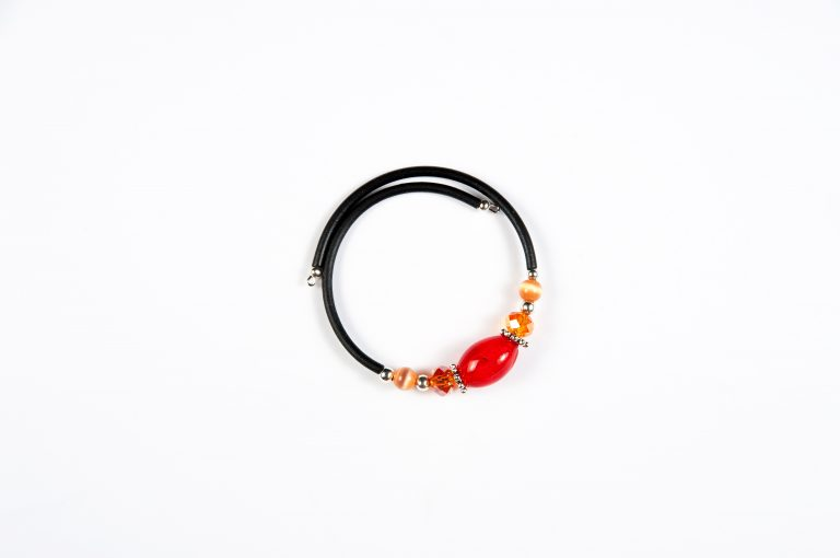 Drops of Alaska Memory Bracelet-Red Orange