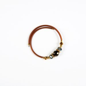 Drops of Alaska Memory Bracelet-Brown
