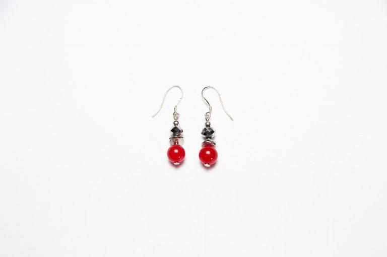 Drops of Alaska Earrings-Red