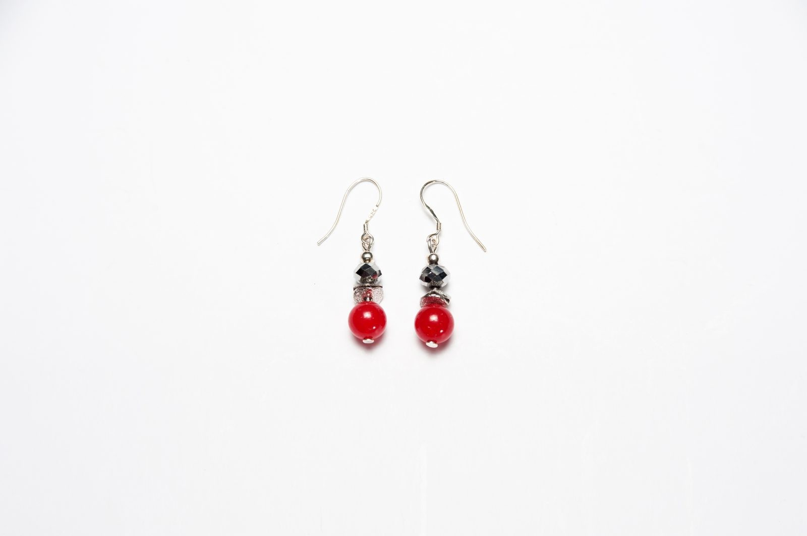 Drops of Alaska Earrings-Red