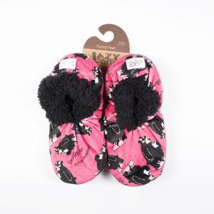 Lazy One Fuzzy Feet Slippers-Pink Bear
