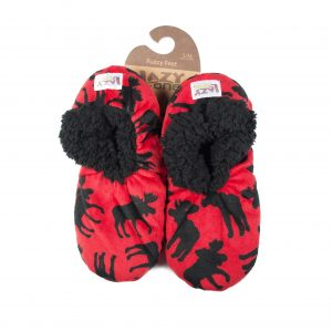 Lazy One Fuzzy Feet Slippers-Red Moose