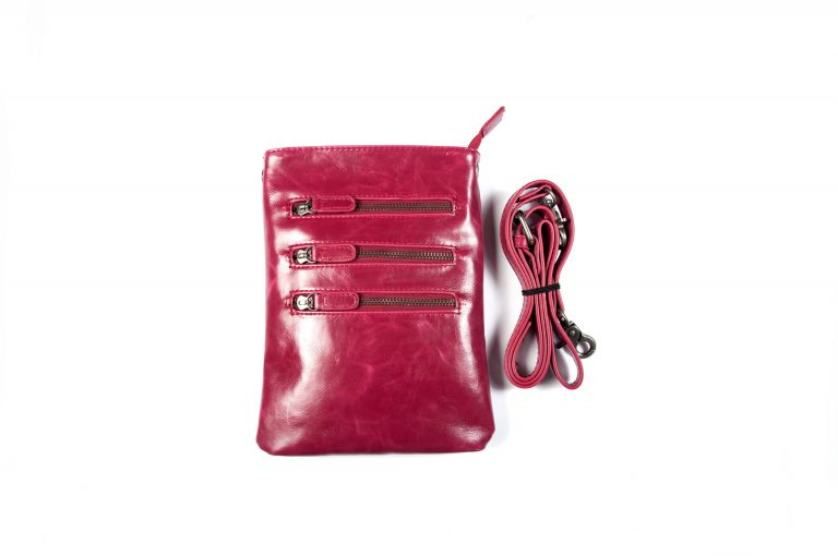 Shiraleah Harper Vegan Leather Crossbody-Berry