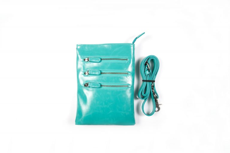 Shiraleah Harper Vegan Leather Crossbody-Teal