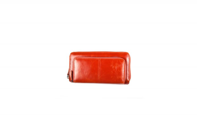 Shiraleah Harper Vegan Leather Zip Wallet-Orange