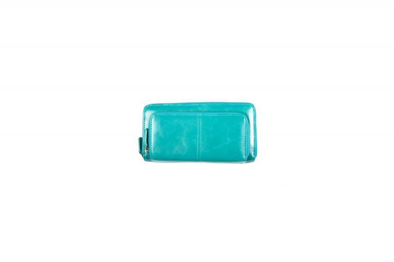 Shiraleah Harper Vegan Leather Zip Wallet-Teal