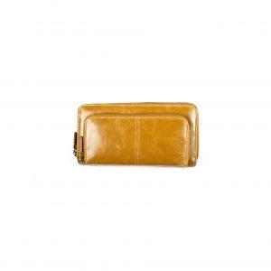 Shiraleah Harper Vegan Leather Zip Wallet-Mustard