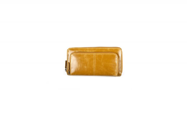 Shiraleah Harper Vegan Leather Zip Wallet-Mustard