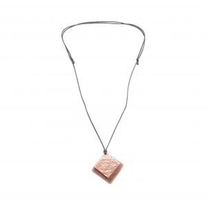 Old Tin Roof Recycled Tin and Copper Pendant Necklace