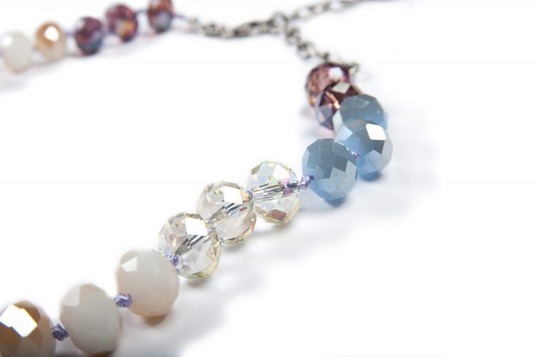loveditinalaska.com | An Old Soul Crocheted Faceted Crystal Necklace-Multi