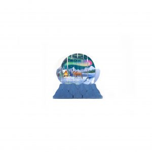 Up With Paper Northern Lights Pop-up Snow Globe Greeting Card