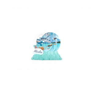 Up With Paper Alaska Fishing Pop-up Snow Globe Greeting Card