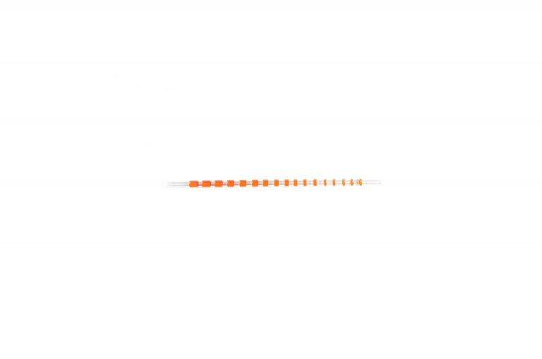 Plastic Straw-Orange Stripe