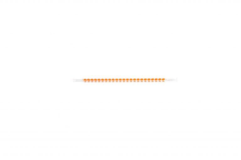 Plastic Straw-Orange Dots