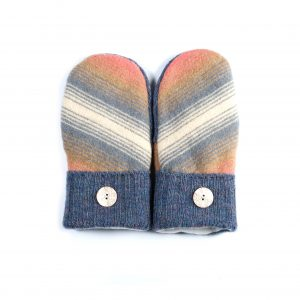 loveditinalaska.com | Always Stitchen Handmade Mittens-Blue Stripe