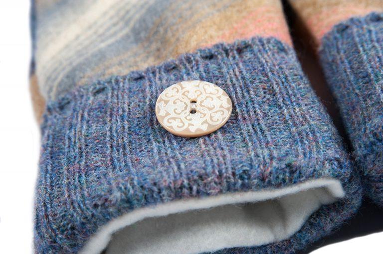 loveditinalaska.com | Always Stitchen Handmade Mittens-Blue Stripe