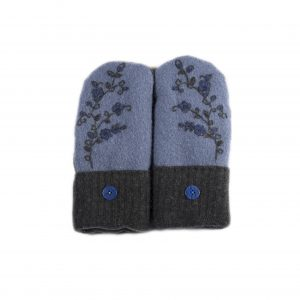loveditinalaska.com | Always Stitchen Handmade Mittens-Charcoal Blue