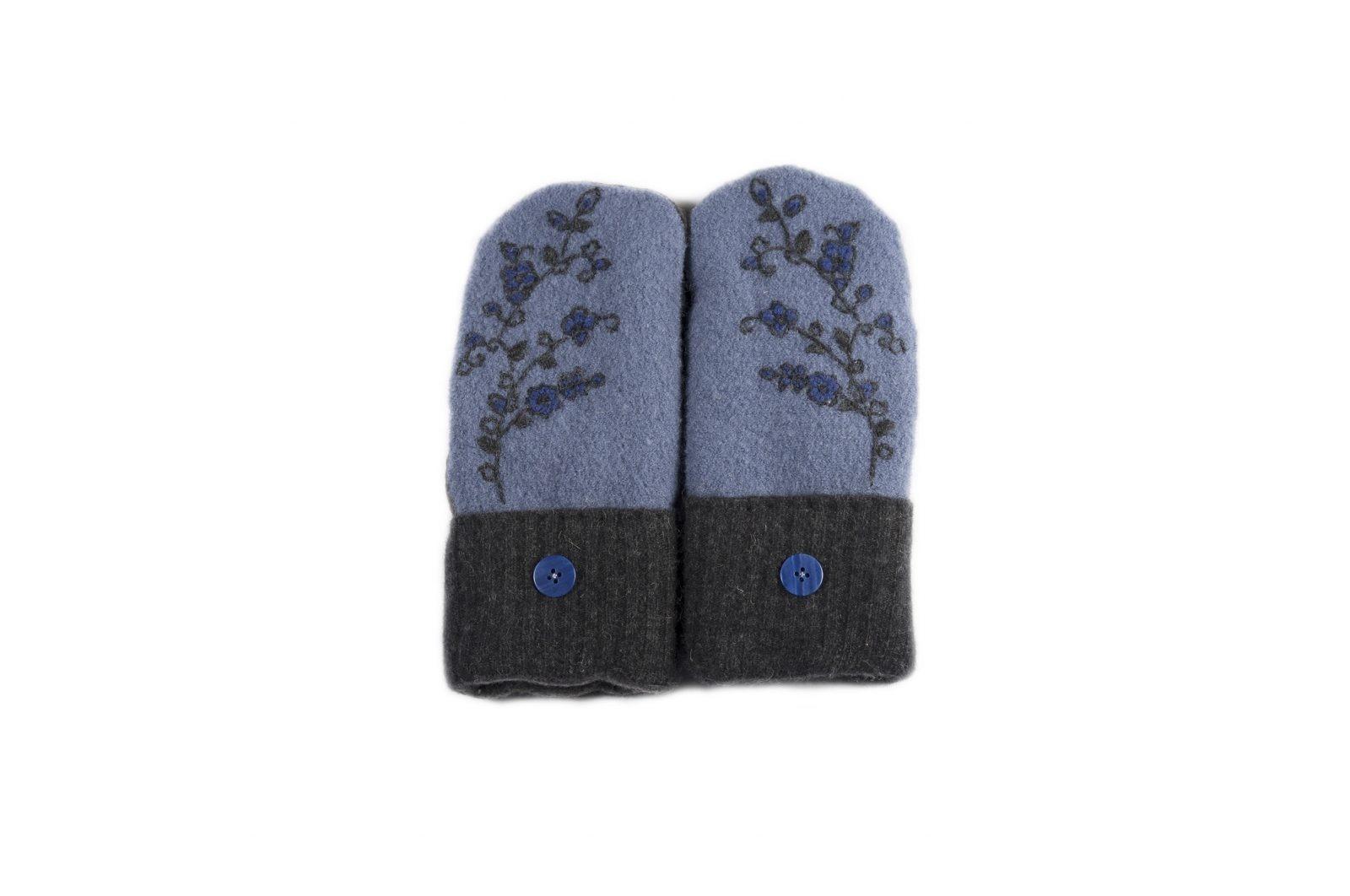 loveditinalaska.com | Always Stitchen Handmade Mittens-Charcoal Blue