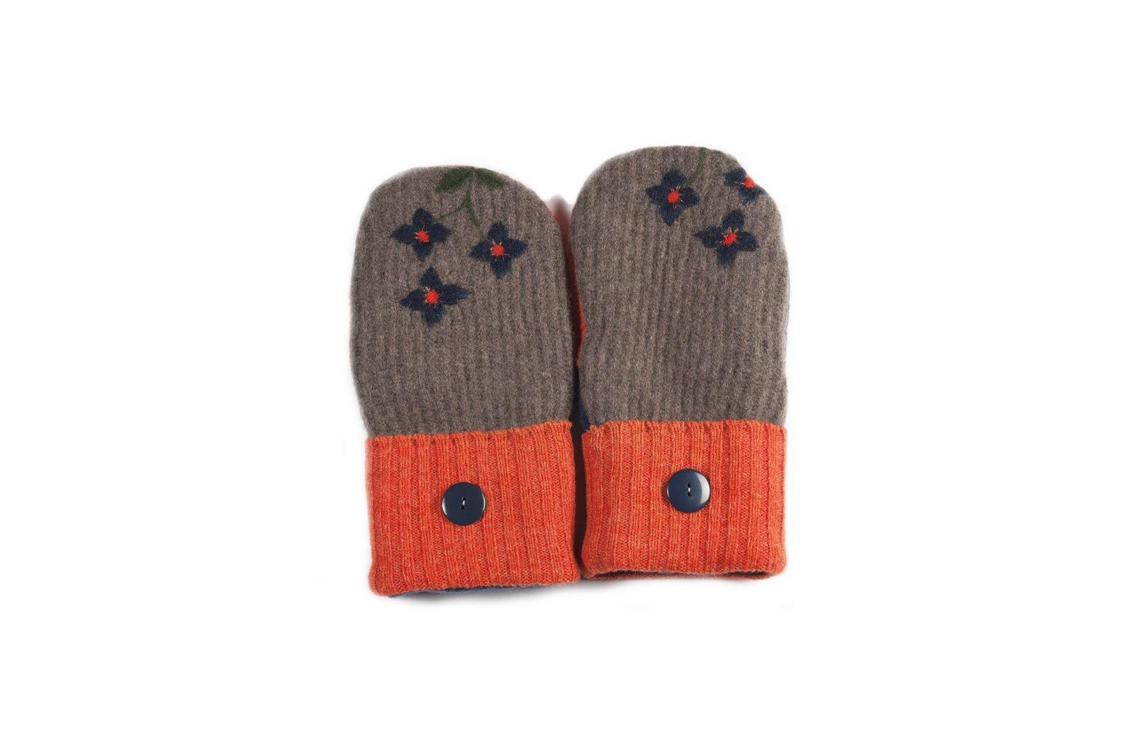 loveditinalaska.com | Always Stitchen Handmade Mittens-Orange Brown