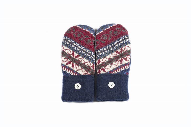 loveditinalaska.com | Always Stitchen Handmade Mittens-Blue Red