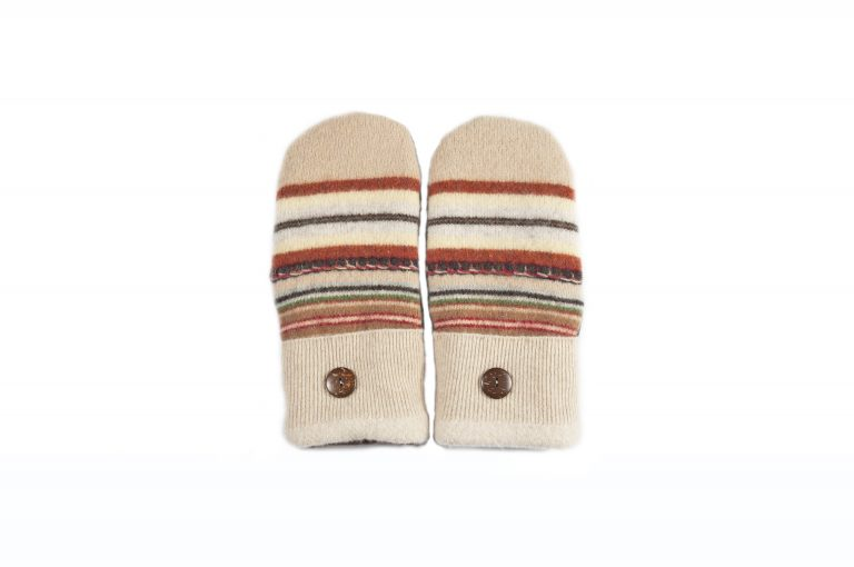 loveditinalaska.com | Always Stitchen Handmade Mittens-Brown Green Stripe