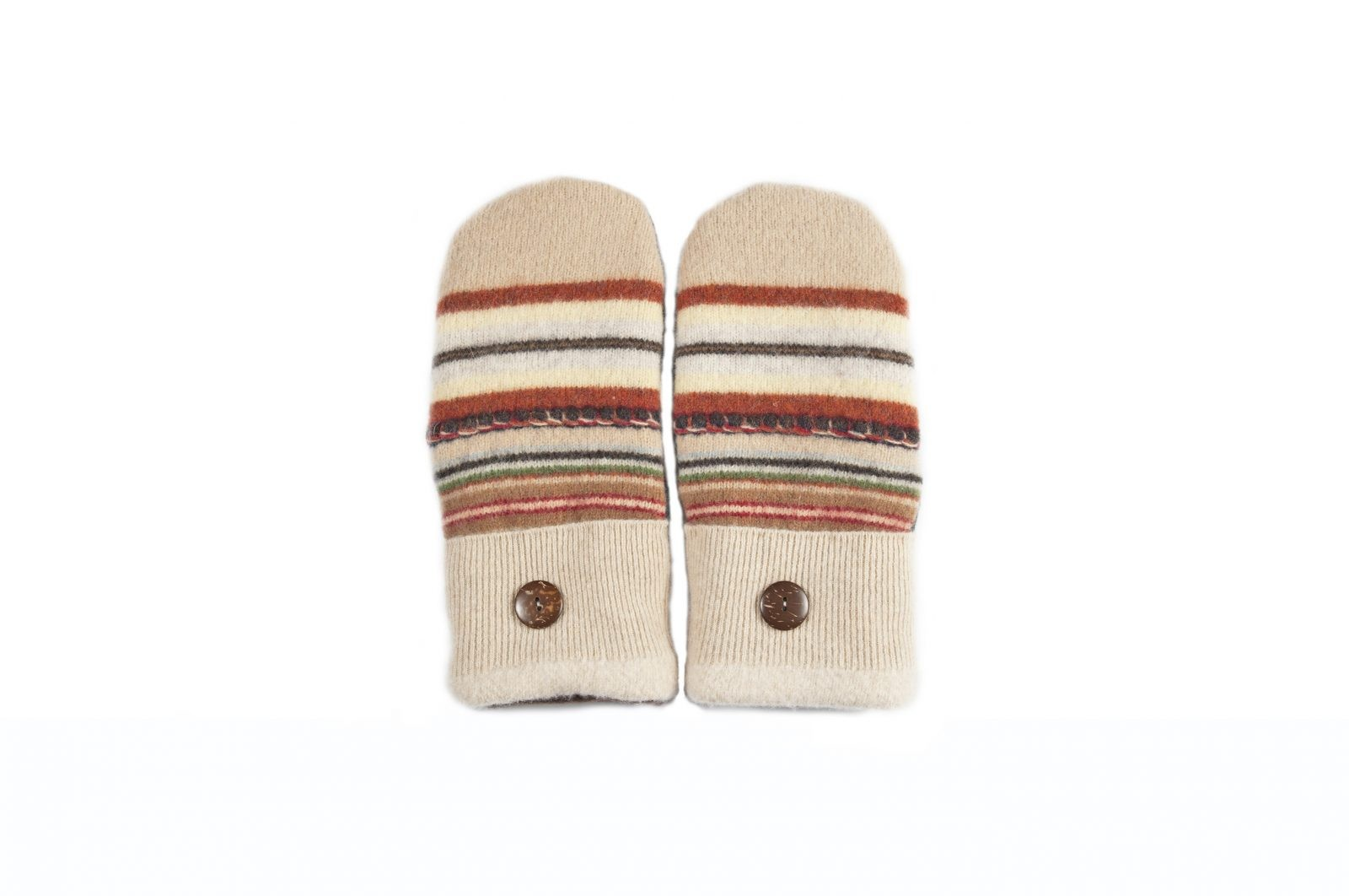 loveditinalaska.com | Always Stitchen Handmade Mittens-Brown Green Stripe