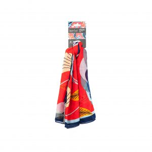 Native Northwest Square Scarf-Red